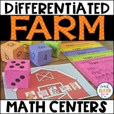 Differentiated Math Center - Farm Theme