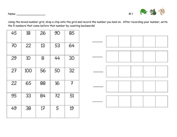 Differentiated Math Centers for First Grade Week 3