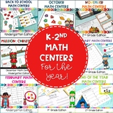Kindergarten, First Grade, and Second Grade Math Centers for the Whole Year!