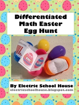 Differentiated Math Easter Egg Hunt
