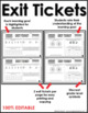 Differentiated Math Exit Tickets - GROWING BUNDLE