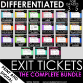 Math Exit Tickets - Test Prep - Differentiated - EDITABLE