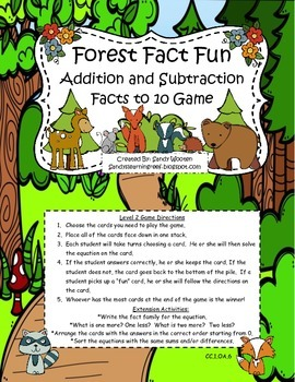 Differentiated Math Fact Fluency Small Group Games and Extension Activities!