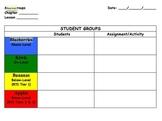 Differentiated Math Groups Organizer