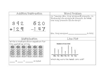 Differentiated Math Homework for Third Graders