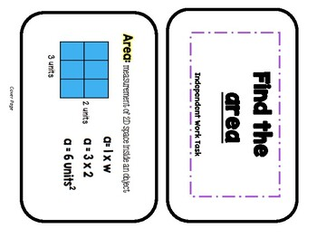 Differentiated Math Independent Task Cards: AREA