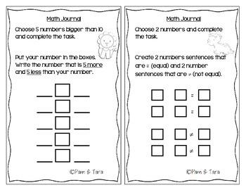 Differentiated Math Journals