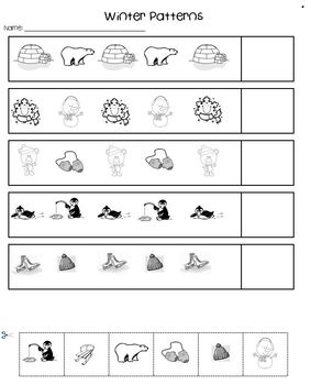 Winter Math Pack with differentiated activities