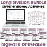 Long Division Worksheet BUNDLE - Differentiated with Detai