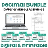 Decimal Differentiated Worksheet BUNDLE
