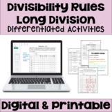 Divisibility Rules Worksheets Differentiated with 3 Levels