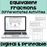 Equivalent Fractions Worksheets (Differentiated)