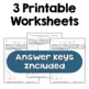 Exponents - Solve for the Variable Worksheets (Differentiated with 3 Levels)