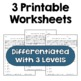 Exponents with Decimal & Fraction Bases Worksheets (3 Levels)