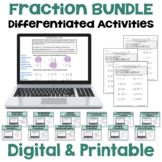 Fraction Worksheet BUNDLE (Differentiated with 3 Levels)