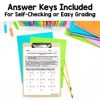 Fraction Worksheet BUNDLE (Differentiated)