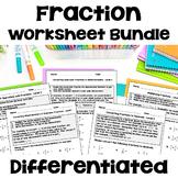 Fraction Worksheet BUNDLE  (Add, Subtract, Multiply & Divide Fractions)