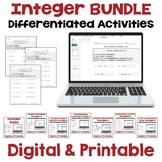 Integers Worksheet BUNDLE (Differentiated)