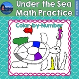 Under the Sea Math Practice Color by Number Grades K-8
