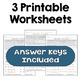 Negative Exponents Worksheets (3 Levels)