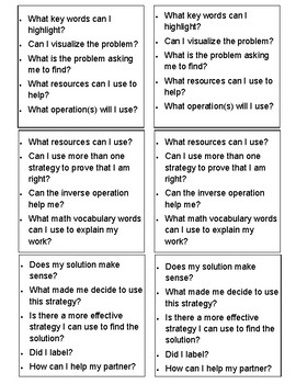 Differentiated Math Question Stem Discussion Cards
