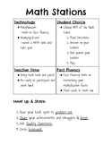 Differentiated Math Stations/Centers Rules