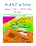 Differentiated Math Stations/Centers Schedule Cards and Ma