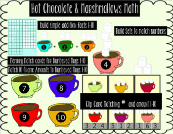 Differentiated Math Stations: Hot Chocolate & Marshmallows Math