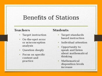Differentiated Math Stations Professional Development