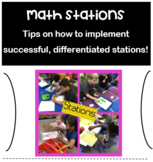 EDITABLE Differentiated Math Stations Set-Up for Successfu