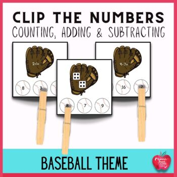 Differentiated Math Task Cards:Clip the Baseball!