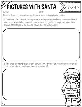 Differentiated Math Tasks {Christmas Math Tasks}