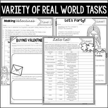Differentiated Math Worksheets (Tasks and Multi-Part Problems)