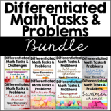 Differentiated Math Worksheets (Tasks and Multi-Part Problems) Bundle