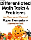 Differentiated Math Tasks {Halloween Themed}