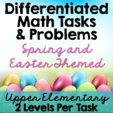 Differentiated Math Tasks {Spring and Easter Tasks}