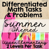 Differentiated Math Tasks {Summer Themed Tasks}