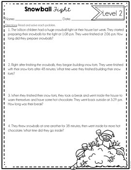 Differentiated Math Tasks {Winter Themed}