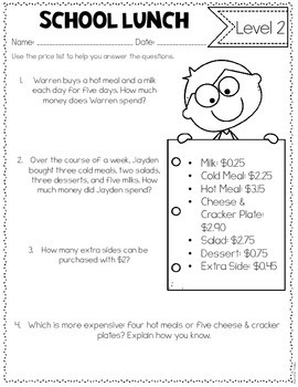 Differentiated Math Tasks {Back to School Themed}