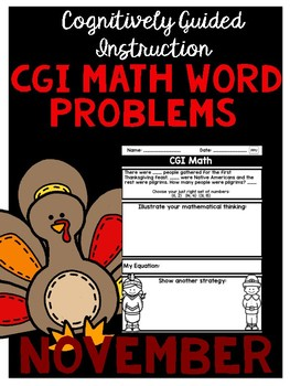 Differentiated Math Word Problems Perfect for CGI! (NOVEMBER Edition)