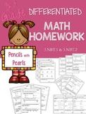 Differentiated Math Work - NBT