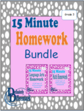 Differentiated Math and Language Arts Homework Bundle - Grade 3