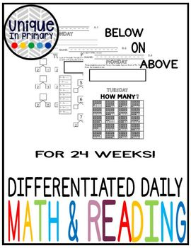 Differentiated Math and Reading Practice (morning work, review etc.) WHOLE YEAR!