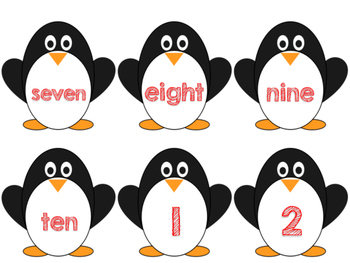 Differentiated Math - counting with penguins