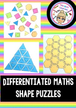 Differentiated Maths Shape Puzzles