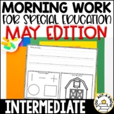 Intermediate Special Education Morning Work: May Edition {3 Levels!}