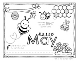 Differentiated May Writing Journals for K and 1st Grade