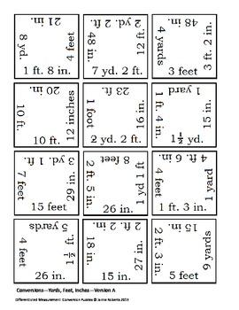 Differentiated Measurement Conversion Puzzles