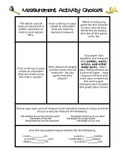 Differentiated Measurement Tasks Choice Board