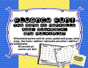 Differentiate with Mental Math Fluency Game Boards